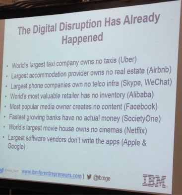 Disruption has already happend IBM:
